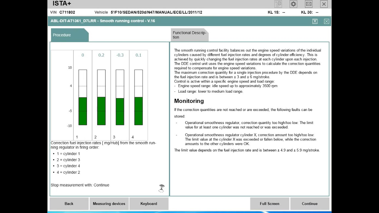 BMW ISTA/D - Fuel Injectors Test   Smooth Running   Replace/code injector    Diagnose   Clear errors
