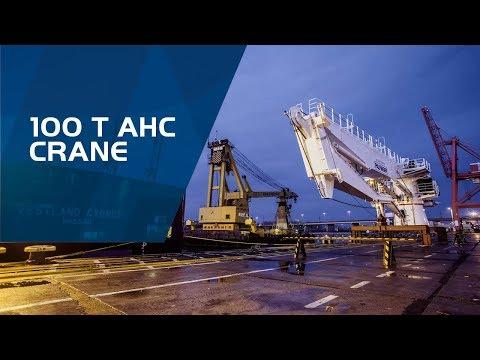 PALFINGER MARINE - 100 t AHC crane - DKF 1600