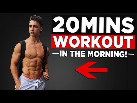 20 MIN MORNING WORKOUT (NO EQUIPMENT BODYWEIGHT WORKOUT!)