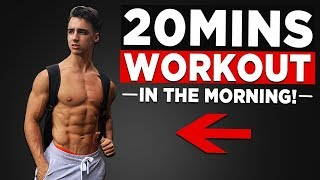 20 MIN MORNING WORKOUT (NO EQUIPMENT BODYWEIGHT WORKOUT!)