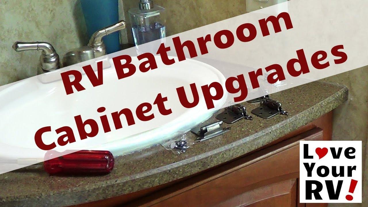 RV Bathroom Cabinet Upgrades - YouTube