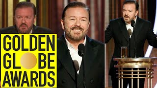 Every Ricky Gervais Golden Globes 2009-2020