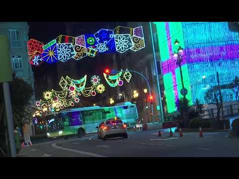 Recorrido por las luces de Navidad de Vigo