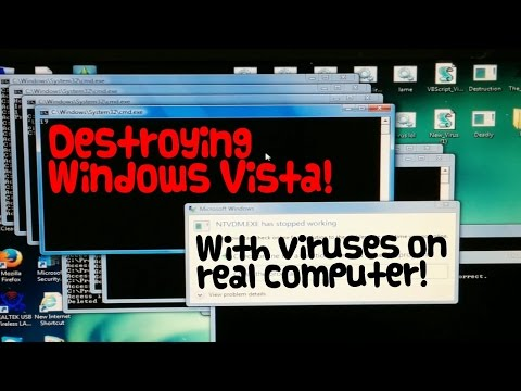destroying a real windows vista computer with viruses