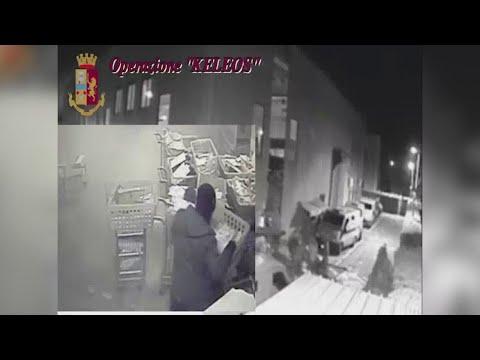"""Operazione """"Keleos"""", le immagini dell'assalto al caveau di Catanzaro"""