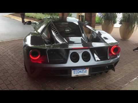 2017 Ford GT start up and driving