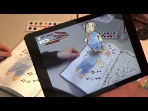 Augmented reality coloring book on non-planar pages