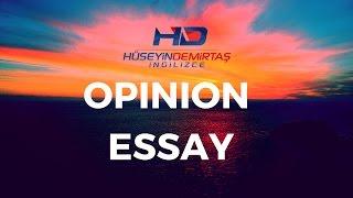 Opinion essay nasıl yazılır?  Opinion essay nedir?