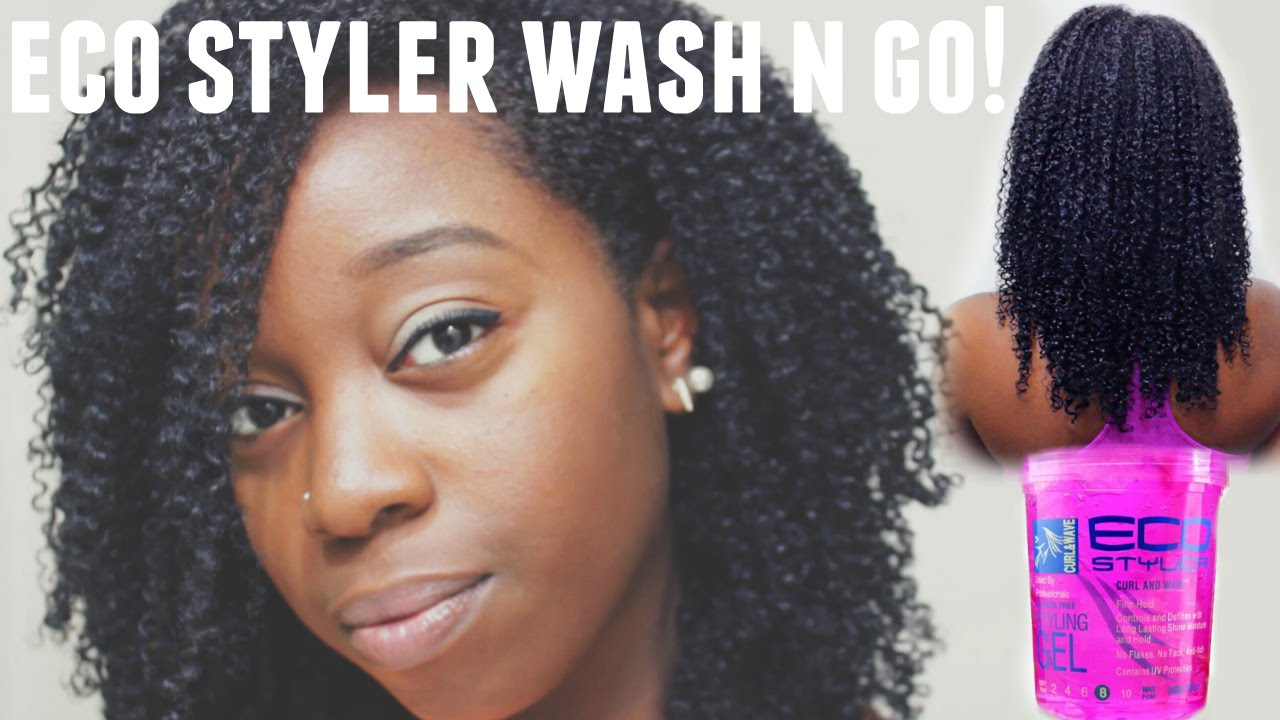 style your hair without gel wash n go using eco styler gel hair 3248
