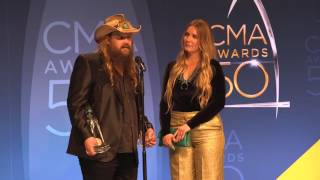 Chris Stapleton Reveals His Favorite Moment From CMA Awards 50