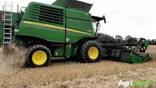 Cutting winter wheat on a new combine in Co. Kildare