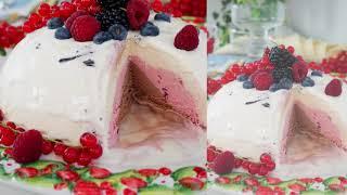 Eisbombe selber machen - Fürstpückler Eistorte Tutorial - Selbstgemachtes Eis - Kuchenfee