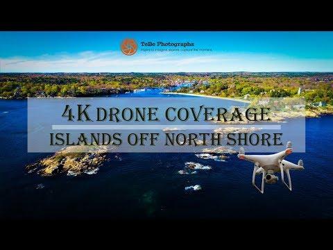 4K Drone Coverage | Small Islands off North Shore Coast