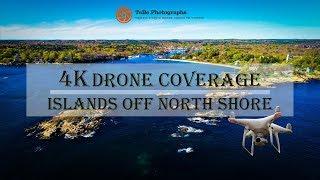 4K Drone Coverage   Small Islands off North Shore Coast