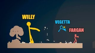 USO LOS HACKS Y GANO TODO! Stick Fight con Vegetta y Fargan