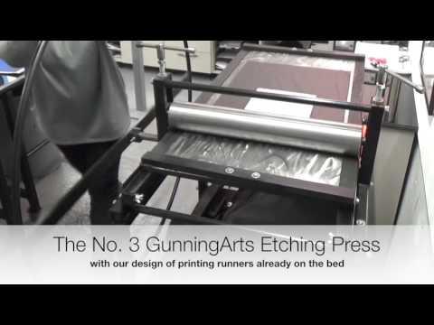 Gunning printing press - Etching Press Tutorial