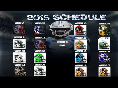 Dallas Cowboys 2015-2016 Schedule - Finally A Favorable Schedule
