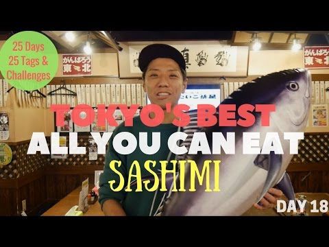 All You Can Eat SASHIMI in Tokyo! [ Vlogmas Day 18]