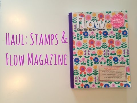 Haul: Etsy, Ebay Stamps and Flow Magazine Book for Paper Lovers