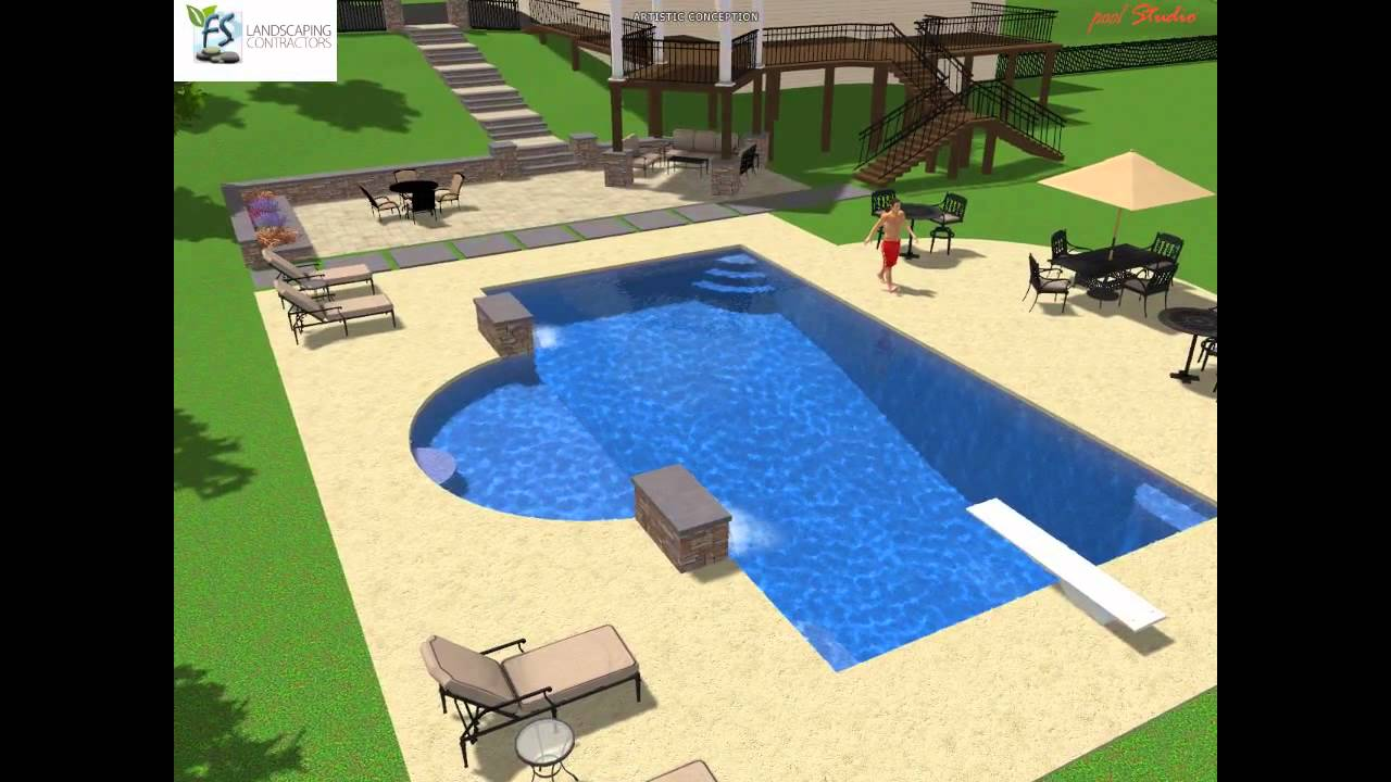 Rectangle Pool Designs rectangle swimming pool ideas - youtube