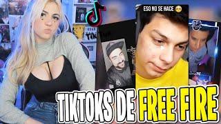 REACCIONANDO A TIKTOKS DE FREE FIRE CRINGE Y DE YOUTUBERS #2 *gracioso*