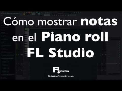 Cómo mostrar las notas en el Piano roll de FL Studio