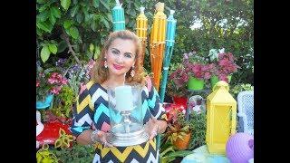 Tour Completo por mi Espectacular Jardín  Edición Nocturna | Farolitos, Antorchas, velas, lámparas.
