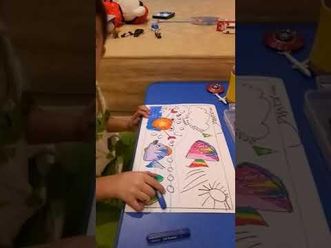 Alexander Belajar Menggambar Dan Mewarnai Dengan Cara Menyenangkan