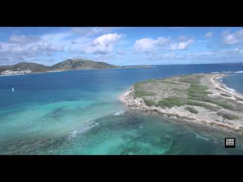 Come to Ride with Us... Wind Adventures in St Martin, FWI. DJI Drone over Orient Bay Beach