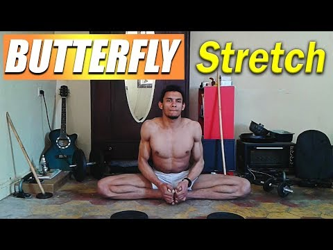 Best 4 Minute Butterfly Stretch Improve Your Hips Flexibility (Follow along)