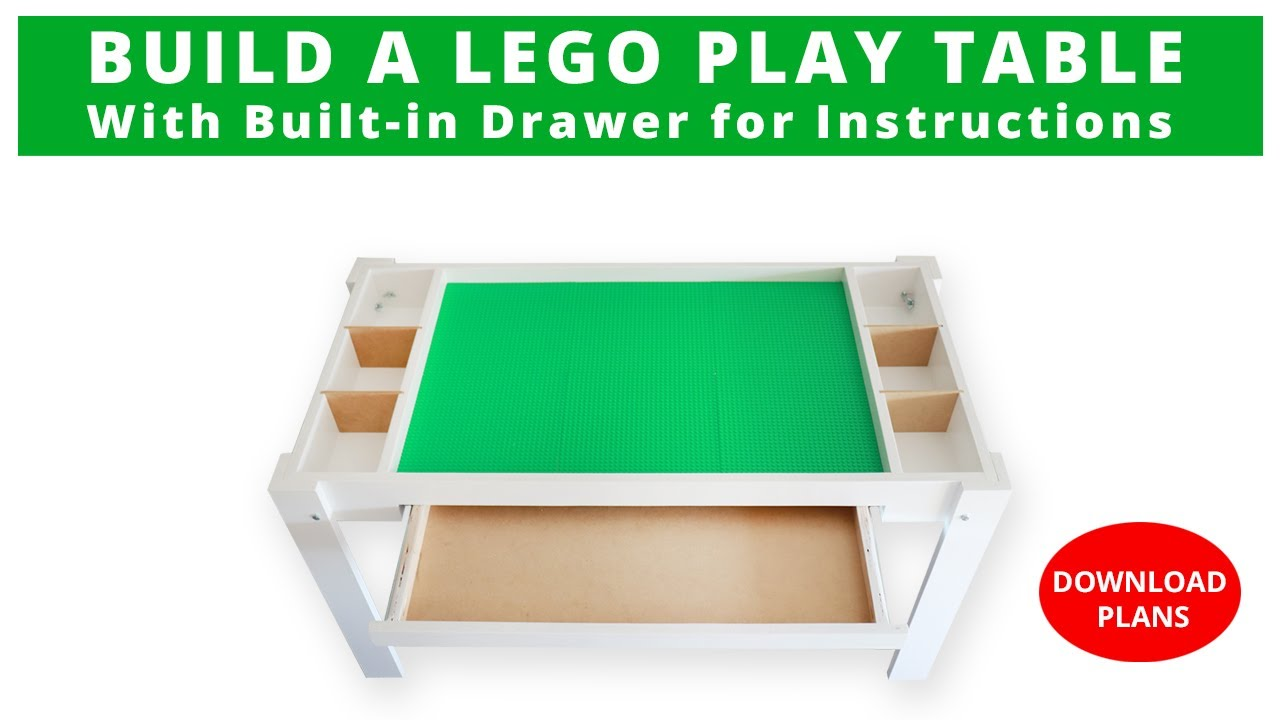 How To Build A Lego Storage Table Diy Project Woodworking Project Rocker Plywood Challenge