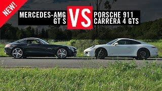 Mercedes AMG GT S versus Porsche 911 Carrera GTS First Drive Review