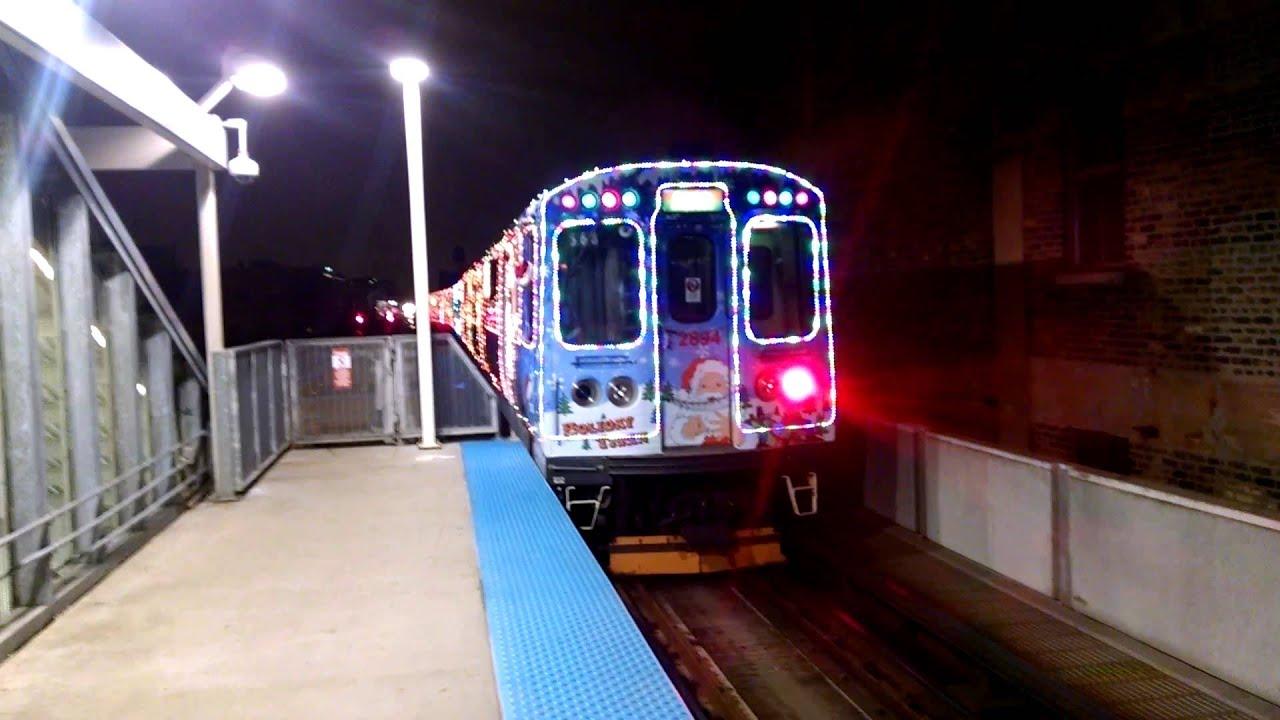 cta holiday train at fullerton - Cta Christmas Train 2014