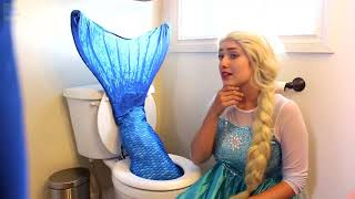 Frozen Elsa & Spiderman, funniest moments, magic water and fish disguise