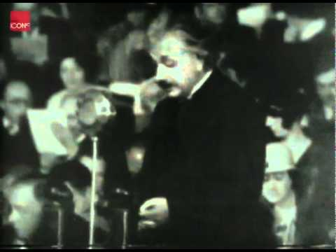 Albert Einstein makes anti-Nazi speech
