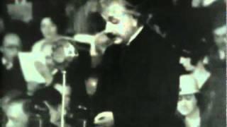 Albert Einstein makes anti-Nazi speech