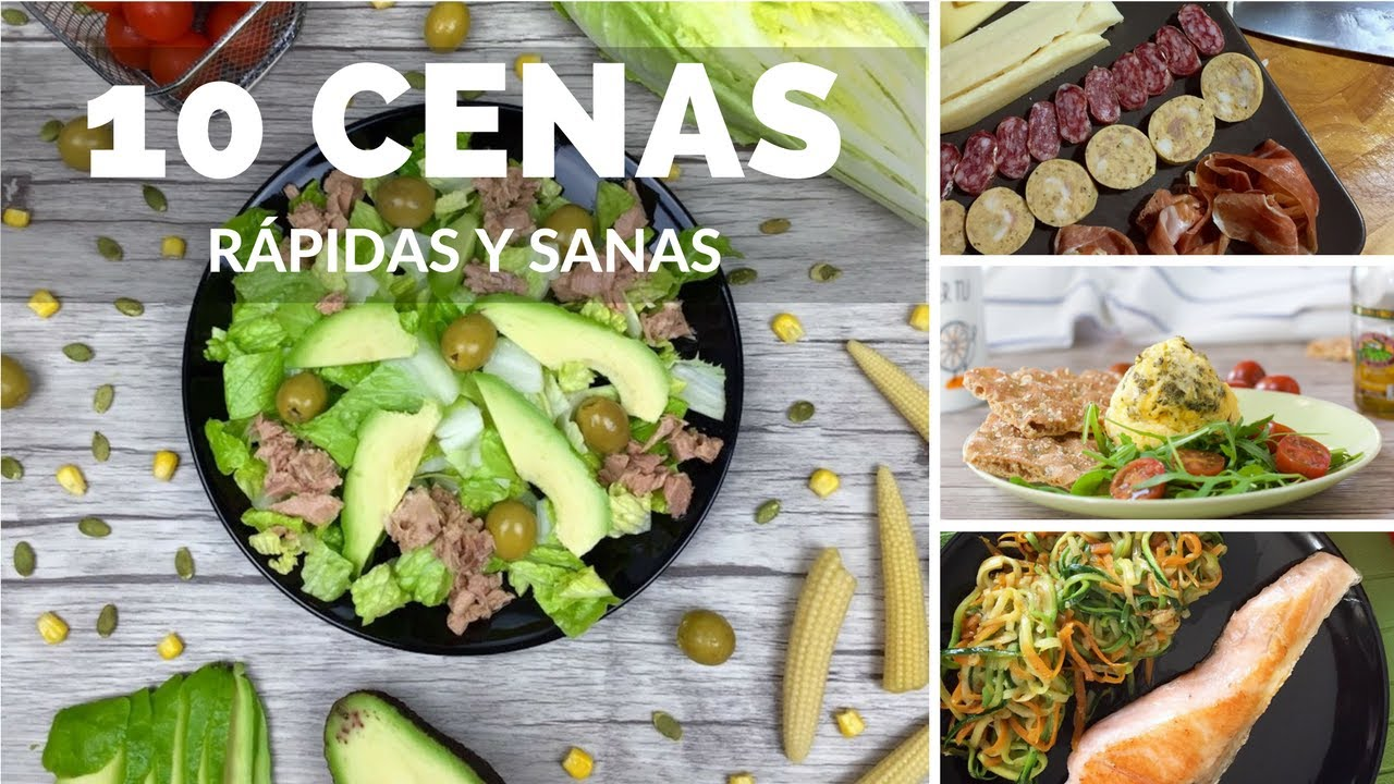 10 cenas r pidas y sanas youtube for Comidas faciles y saludables