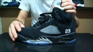 Air Jordan V (5) Retro Black/ Metallic Silver 2011 Review