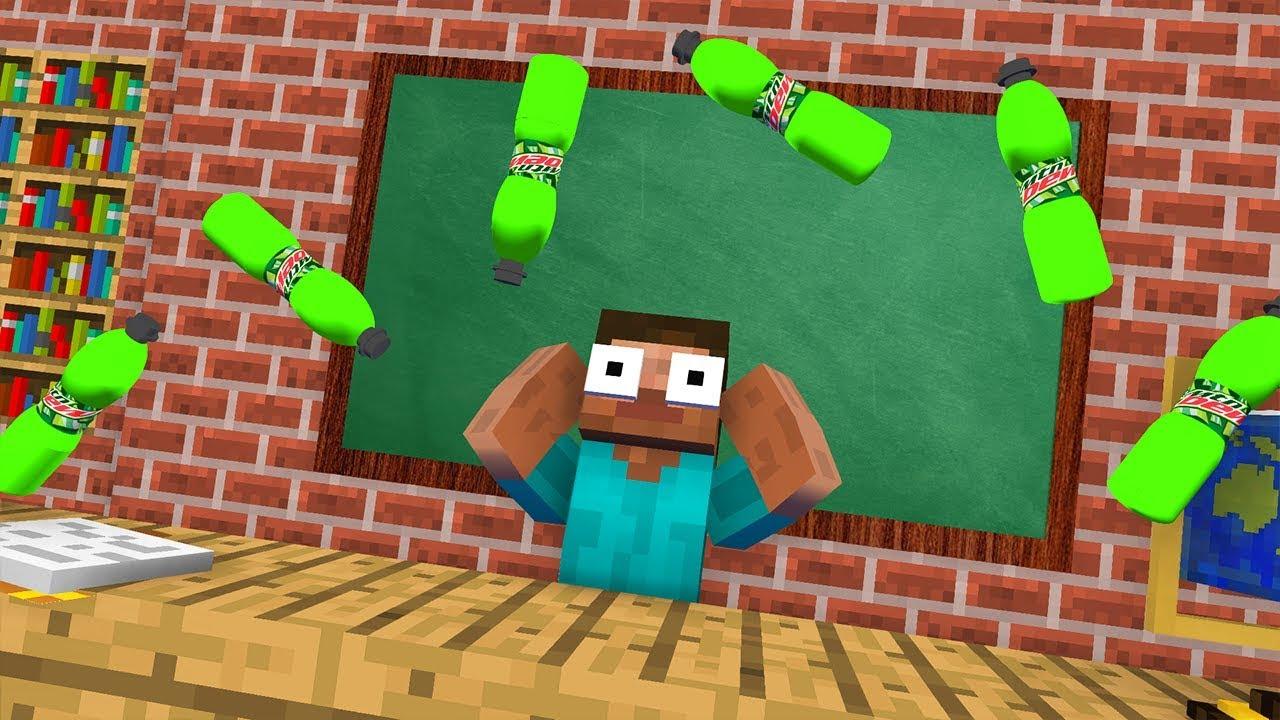 Download Monster School : Epic BOTTLE FLIP Challenge - Minecraft Animation