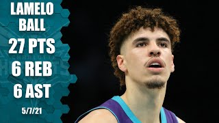 LaMelo Ball has an all-around game with 27 PTS, 6 REB & 6 AST to guide Hornets!
