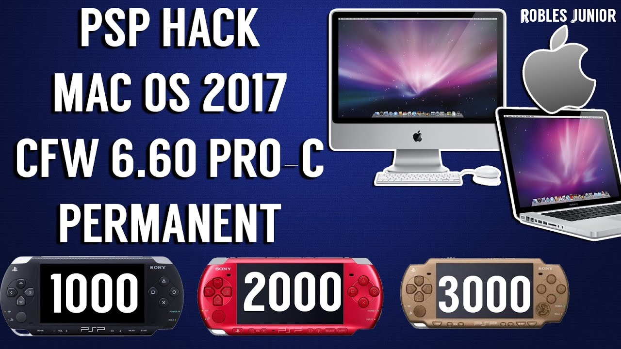 How to hack your psp with mac os | cfw 6. 60 pro-c permanent | 2017.