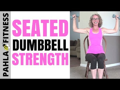 SEATED STRENGTH with Optional DUMBBELLS | Repeatable Home Workout, 8 Minutes per Round