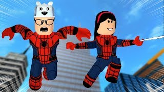 ROBLOX: MY MOTHER AND I IN: WE WENT TO THE WORLD OF SPIDER-MAN! -Play Old man