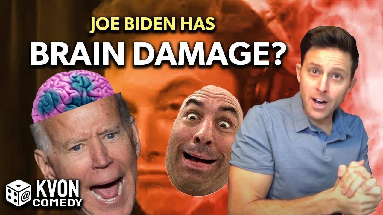 Joe Rogan vs Joe Biden: Brain Damage Exposed During Black History Month (comedian K-von explains)