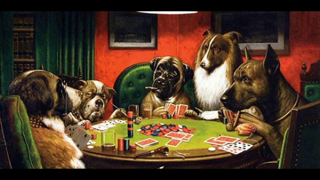 Dogs Playing Poker Painting 🐶The Story Behind Dogs Player ...