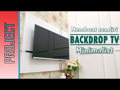 MEMBUAT BACKDROP TV MINIMALIS