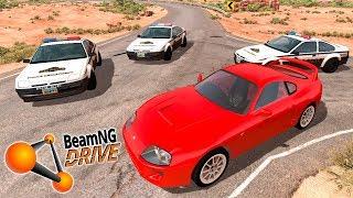 ПОЛИЦЕЙСКАЯ ПОГОНЯ ЗА ЛИХАЧЕМ НА БЫСТРОЙ МАШИНЕ В BEAMNG DRIVE (BeamNG.drive погоня)
