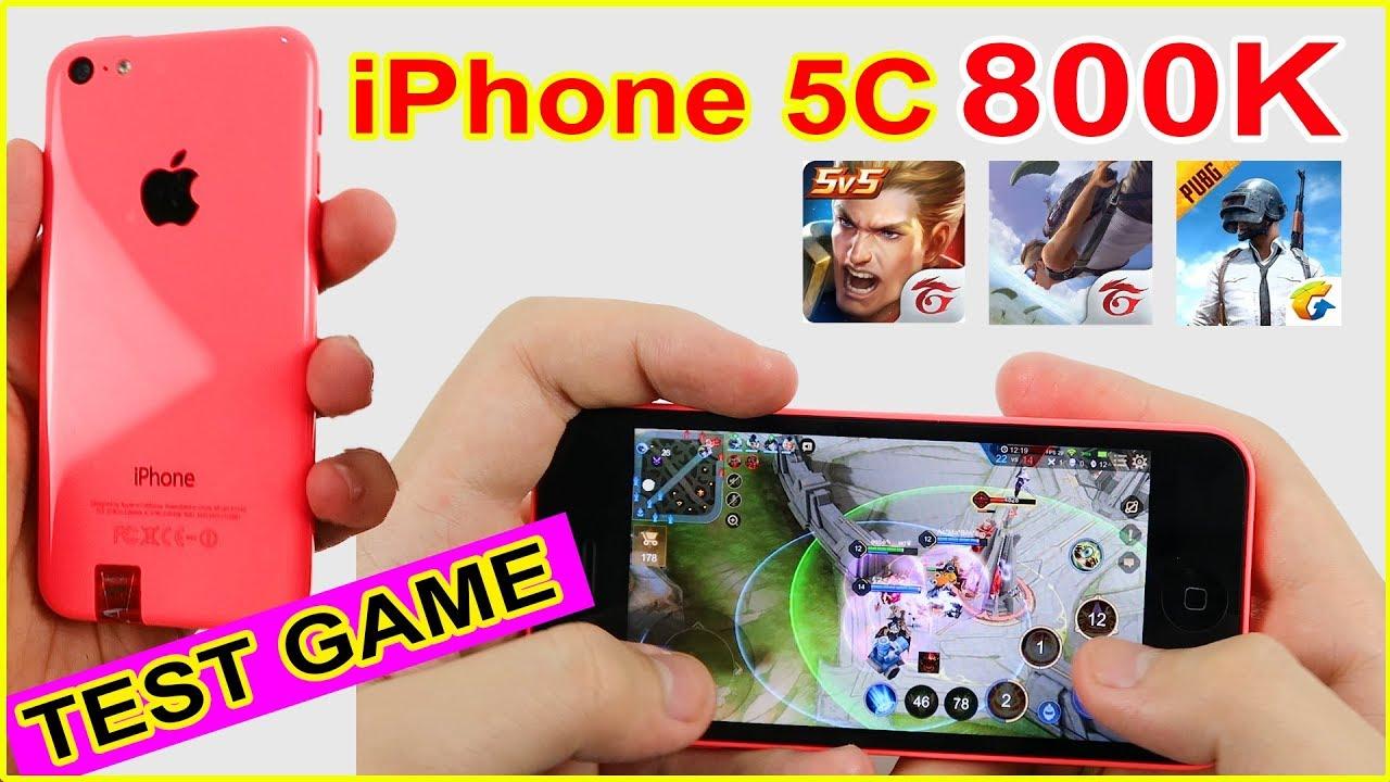 TEST GAME Apple iPhone 5C giá 800k. Ở 2020 Liên Quân, Free Fire còn cân được?   MUA HÀNG ONLINE