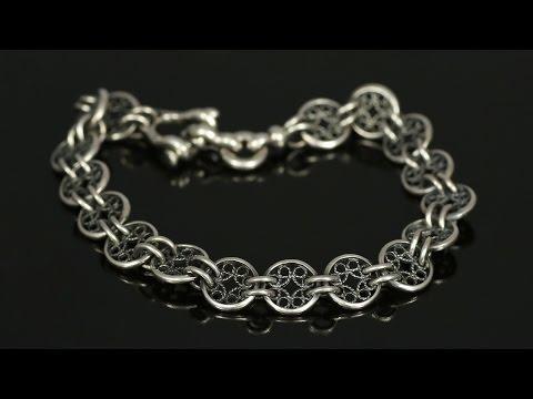 Мужские браслеты (серебро 925пр)