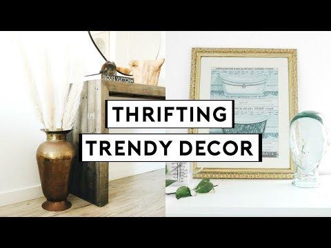 THRIFTING TRENDY HOME DECOR! DIY THRIFT FLIP + UPCYCLE | Nastazsa
